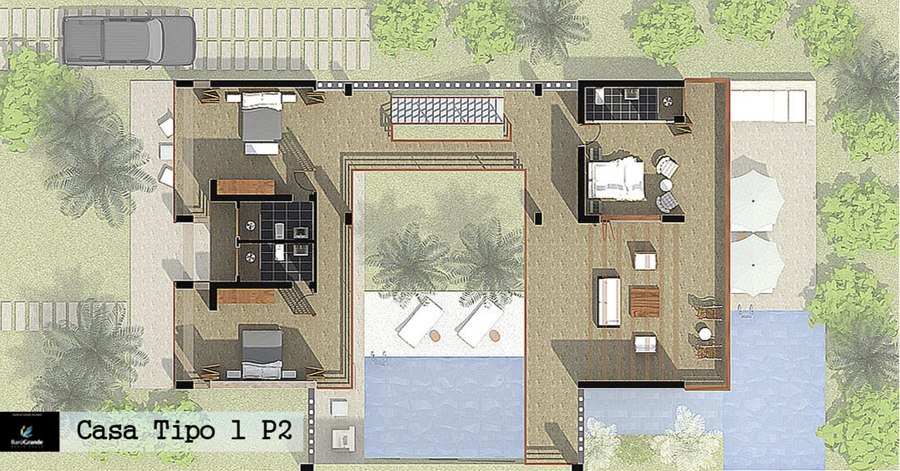 BaruGrande Beach House Casa 1 - Planta Piso 2