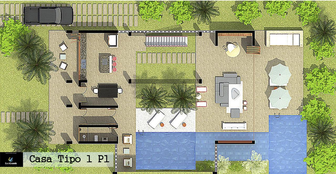 Barugrande Beach House Casa 1 - Planta Piso 1